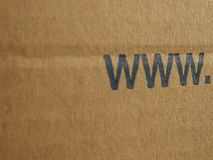 Brown corrugated cardboard www Royalty Free Stock Photos