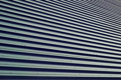 Brown orrugated steel sheet Royalty Free Stock Photos