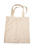 Brown cotton bag. On white isolated background Royalty Free Stock Image