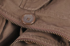 Brown cotton clothes closeup Royalty Free Stock Photo