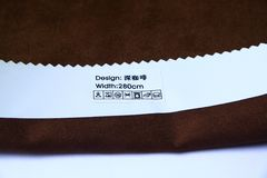 Brown cotton material Stock Photo