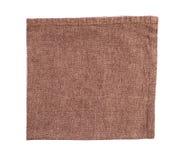 Brown cotton napkin isolated Stock Photos
