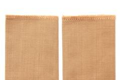 Brown cotton on white background Royalty Free Stock Photos