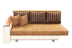 Brown couch. Isolated on white background Stock Images