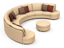 The brown couch Royalty Free Stock Image