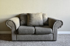 Brown Couch Inside Home Stock Image