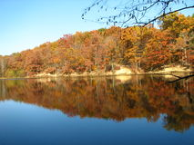 Brown county Lake. Brown county Indiana state park. Taken from a trail that goes all the way around the lake Royalty Free Stock Images