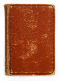 Brown cover. Of a very old book royalty free stock photo