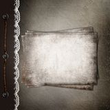 Brown cover for an album Royalty Free Stock Images