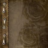 Brown cover for an album with roses Royalty Free Stock Images