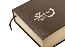 Brown cover bible detail Royalty Free Stock Photography