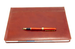 Brown cover notebook Royalty Free Stock Image