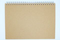 Brown cover notebook background stock image