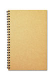 Brown cover notebook isolated Royalty Free Stock Photo