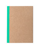 Brown cover notebook Royalty Free Stock Photography