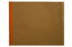 Brown cover with saddle of a book Royalty Free Stock Images