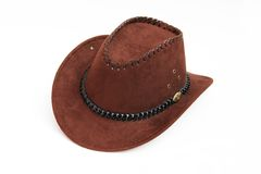 Brown Cowboy Hat. Isolated on white background Royalty Free Stock Photo