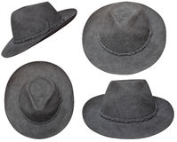 Brown cowboy hat. In different views. This hat was bought in Pisac(Peru) in summer 2011 for 25 sol Stock Images