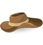 Brown cowboy hat Royalty Free Stock Photos