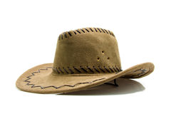 Brown cowboy hat Stock Photos