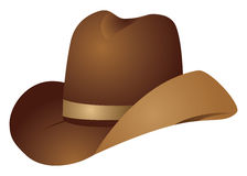 Brown cowboy hat Stock Photo