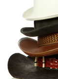 Brown cowboy hat isolated on white Royalty Free Stock Photos