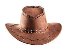 Brown cowboy hat Stock Photography