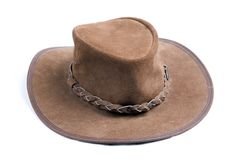 Brown cowboys hat royalty free stock photos