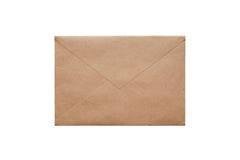 Brown craft envelope stock image