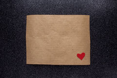 Brown craft paper for confession letter Stock Images
