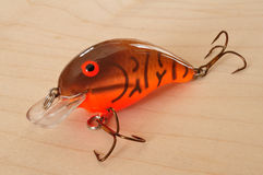 Brown Crankbait with Orange Belly Stock Image