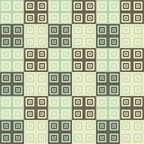 Brown cream and blue green squares inside squares cube pattern background. Wallpaper Stock Photo