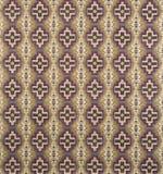 Brown, Cream, Purple Cross Pattern Wallpaper Swatch Stock Photography