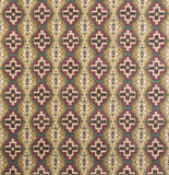 Brown, Cream, Red Cross Pattern Wallpaper Swatch Royalty Free Stock Images