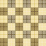 Brown cream and white squares inside squares cube pattern background. Wallpaper Royalty Free Stock Images