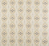 Brown, Cream, Yellow Cross Pattern Wallpaper Swatch Stock Photo
