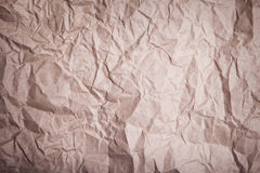 Brown crease paper. Texture background Royalty Free Stock Photography