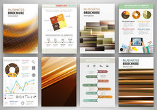 Brown creative backgrounds and abstract concept infographics Stock Photo