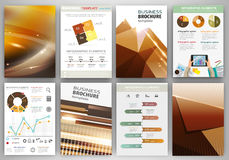 Brown creative business backgrounds and abstract concept infogra Royalty Free Stock Image