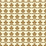 Brown and Creme Damask Seamless Pattern Stock Photo