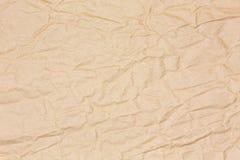 Brown crinkled papier Obraz Stock
