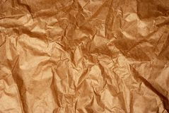 Brown crisped paper Stock Photos
