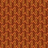 Brown crochet. Table and tablecloth Stock Photography