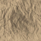 Brown crumpled Royalty Free Stock Image