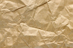 Brown crumpled paper royalty free stock photo