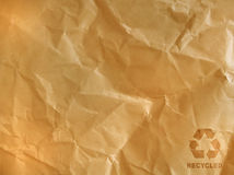 Brown crumpled paper Royalty Free Stock Photos