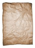 Brown crumpled paper Stock Images
