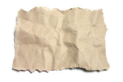Brown Crumpled Paper Stock Image