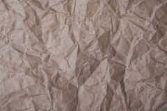 Brown crumpled paper for background Royalty Free Stock Photos
