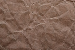 Brown crumpled paper for background Stock Photo